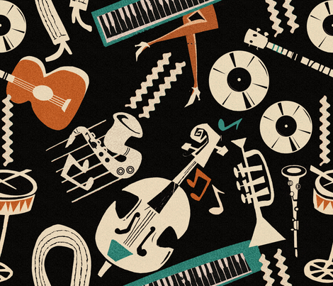 jazz_collection_mix_negative fabric by chicca_besso on Spoonflower - custom fabric
