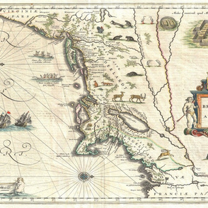 "1635 Map of New England (28""W)"