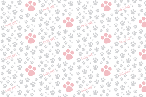 Paw Prints  SMALL - Dusty Rose gray personalized-ed-ed fabric by drapestudio on Spoonflower - custom fabric