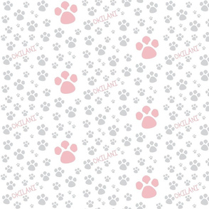 Paw Prints  SMALL - Dusty Rose gray personalized-ed-ed