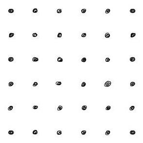 Polka dot scribbles