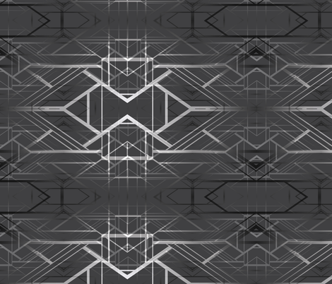 deco background black fabric by kociara on Spoonflower - custom fabric
