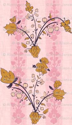 Vintage vine pink
