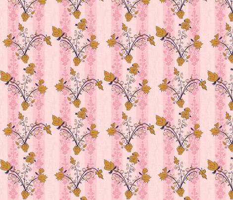 Vintage vine pink fabric by alison_janssen on Spoonflower - custom fabric