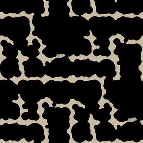 Mudder (Black on Taupe)
