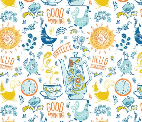 Good Morning Sunshine fabric by chickadeedeedee on Spoonflower - custom fabric