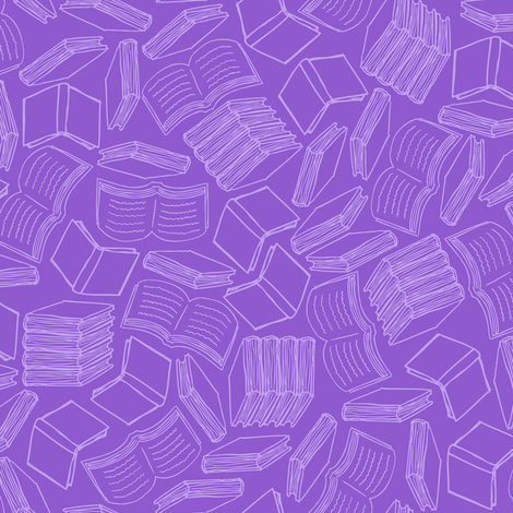 So Many Books... (All Purple) fabric by robyriker on Spoonflower - custom fabric