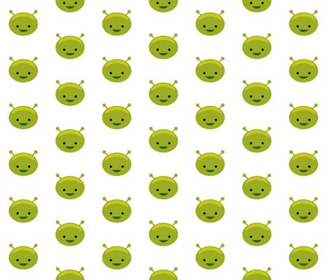 Alien Face fabric by mintparcel on Spoonflower - custom fabric