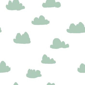 clouds // nursery baby cute quilt mint crib bedding nursery