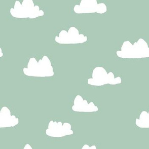 clouds // nursery baby mint cute clouds crib