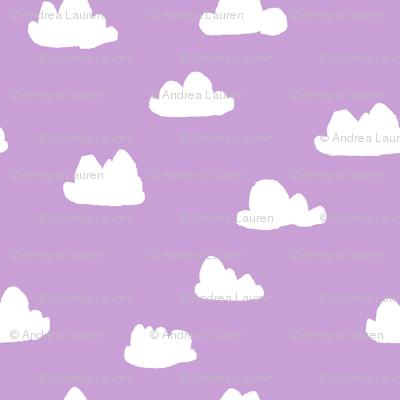 clouds // pastel purple clouds cute girls