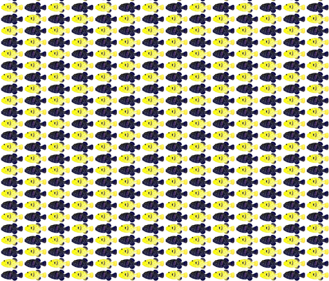 Guineafowl Puffer fish Black and Yellow  fabric by combatfish on Spoonflower - custom fabric