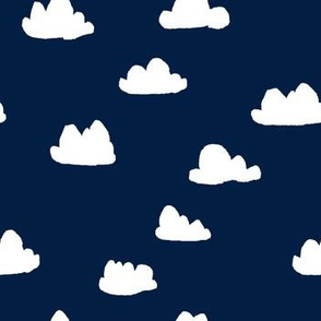 clouds // navy blue kids nursery baby crib bedding kids room decor