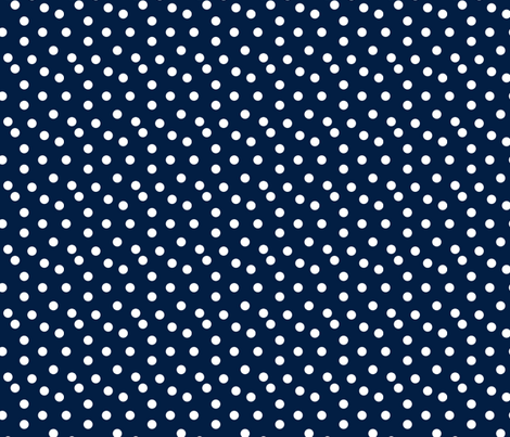 dots // navy blue kids nursery baby coordinate fabric by andrea_lauren on Spoonflower - custom fabric