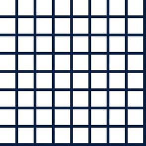 grid // navy and white 1 inch grid nursery baby kids crib bedding coordinate
