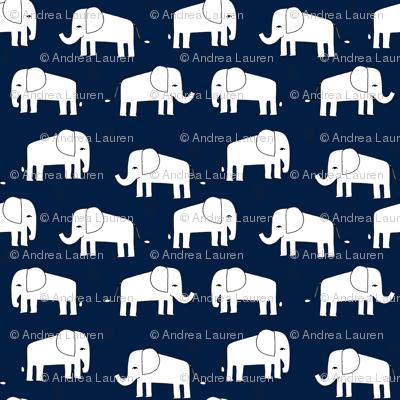 elephant // navy and white baby nursery kids design