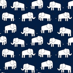 elephant // navy and white baby nursery kids design