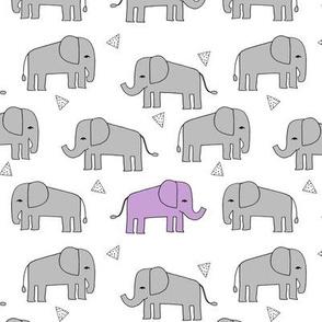 elephant // grey and purple sweet nursery print girls nursery baby girl purple