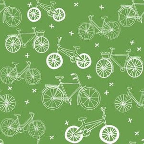 bicycles // grass green summer bike bicycles fresh eco boho design