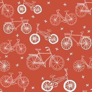 bicycles // red bicycle portland kids summer red bicycle print