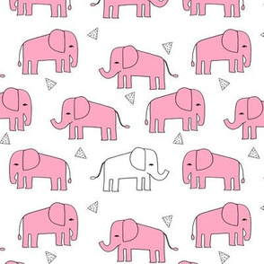 elephant // pink and white baby girl sweet nursery girls pink elephants
