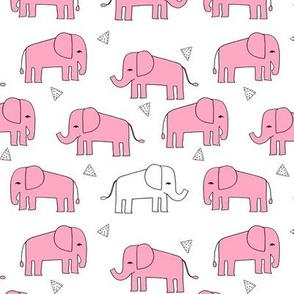 elephant // pink and white baby girl sweet nursery girls pink elephants