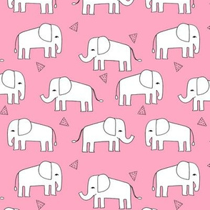elephant // pink elephants baby girl baby girls nursery sweet pink elephants