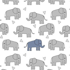 elephant // grey and blue elephants little boy baby boy nursery sweet elephants