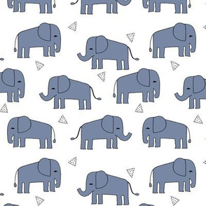 elephant // nursery baby boy blue
