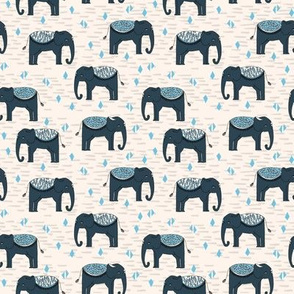 Elephant Parade // small kids baby triangles elephants nursery baby