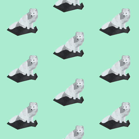 Arctic Fox (small) fabric by arts_and_herbs on Spoonflower - custom fabric