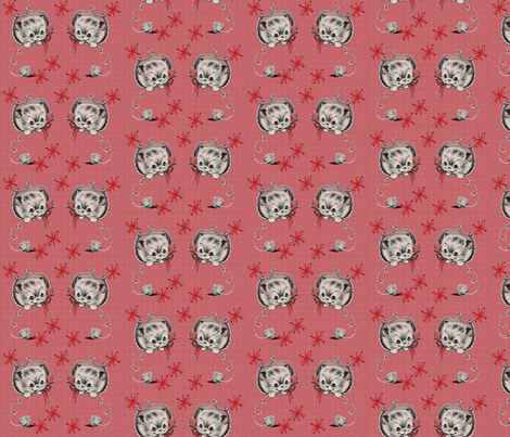 Atomic Kittens fabric by hollywood_royalty on Spoonflower - custom fabric