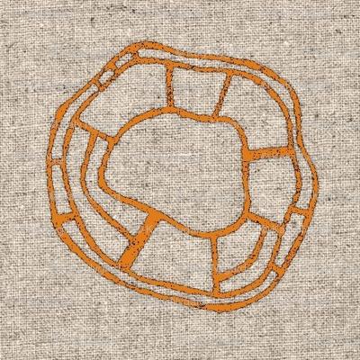 bent wheel orange