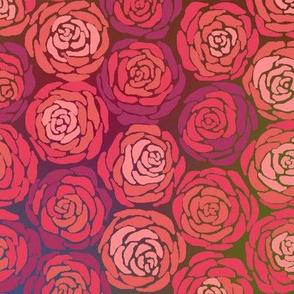 Hexie Roses Deep Hues Large