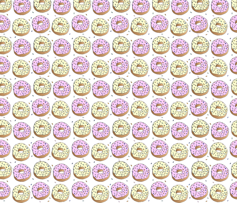 Go Nuts for Donuts fabric by checkerboardskirt on Spoonflower - custom fabric