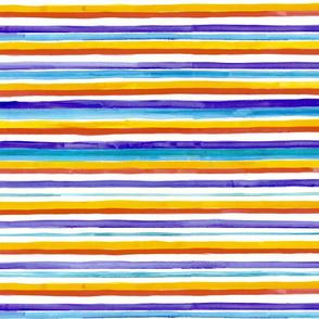 Beach Sunset Color Watercolor Stripes