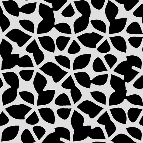 Rogue Flower (Bone) fabric by david_kent_collections on Spoonflower - custom fabric
