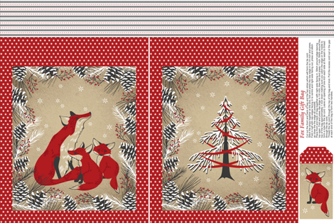 Fox Family Gift Bag fabric by cjldesigns on Spoonflower - custom fabric