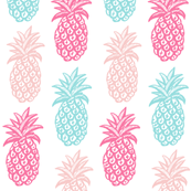 Pineapple  Pink and blue Summer