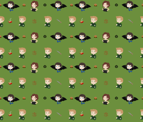 Supernatural fabric by skart87 on Spoonflower - custom fabric