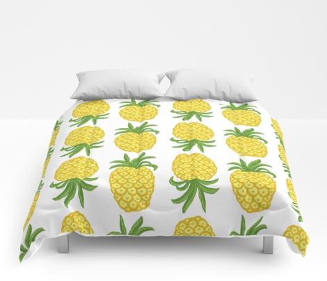Pineapple Greenery Topsy Turvy Summer Fruit