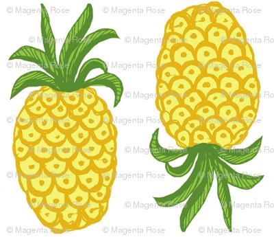 Pineapple summer bright,  Greenery Topsy Turvy Summer Fruit