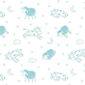 Good Night My Friends Pattern Design