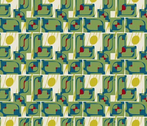 Mid Century Deco Lounge fabric by bloomingwyldeiris on Spoonflower - custom fabric