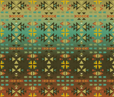 Southwestern Warmth fabric by cherie on Spoonflower - custom fabric