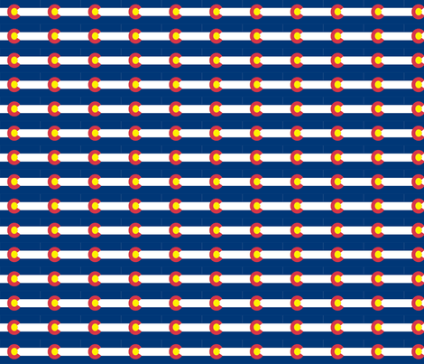 Colorado Flag Fabric fabric by lorlajo on Spoonflower - custom fabric