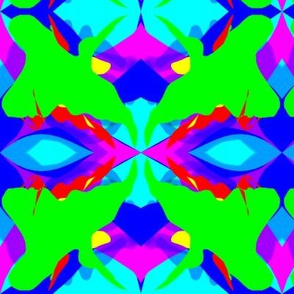 Red Blue and Green Abstract