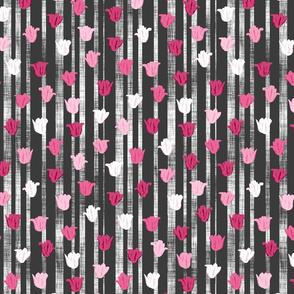 Pink Textured Tulip Stripes