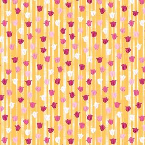 Pink & Gold Textured Tulip Stripes