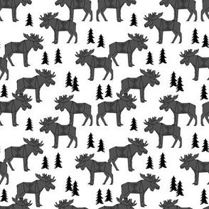 moose // charcoal kids baby canada small animal forest trees outdoors charcoal moose